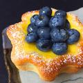地元信州産のブルーベリーを使ったカスタードパン