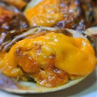 ボンノビス貝のウニソース、ミモレット焼き