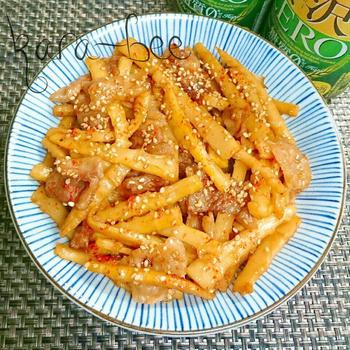 お弁当や作りおきにも◎淡竹メンマと豚肉の甘辛炒め