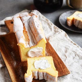 【レシピ】ふわふわ  生シフォンケーキ ーパウンド型ー
