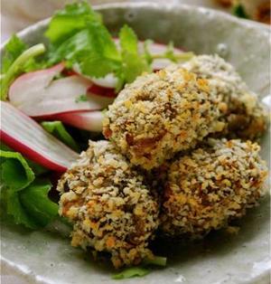 みそ味☆舞茸の牡蠣フライ風