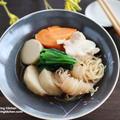ほっこり♡里芋と結びしらたきの煮物