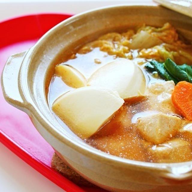 【姫ごはん☆美脚レシピ】鶏肉と白菜のピリ辛コチュジャン鍋の作り方~鍋はダイエットに効果的☆