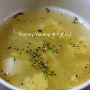 キャベツの芯とじゃがいもの卵スープ♪