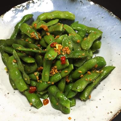 ペペロンチーノ枝豆と無限ピーマン