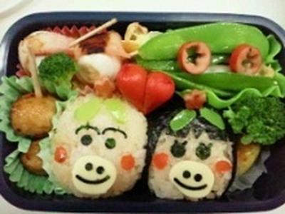 はなかっぱ・ももかっぱ弁当~~♪♪  ★★飾り巻き寿司レッスン5月 ばら 梅の花