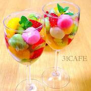 ♡ひな祭りに♡宝石箱なフルーツ白玉♡