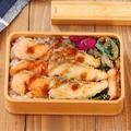 楽ちんな魚のおかず「お刺身カツ」「小松菜炒め」2品弁当