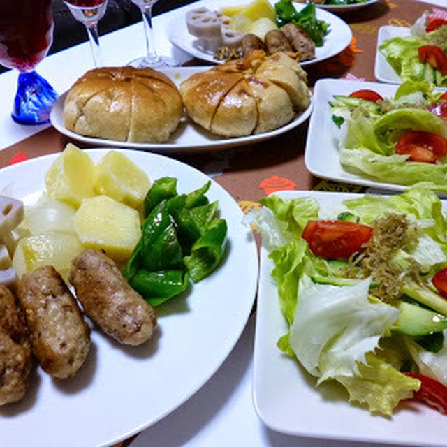 【トロピカーナでおうちバル】豚かたまり肉でソーセージっぽいの♪