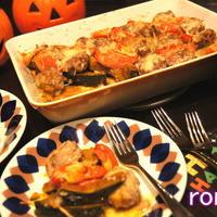 スパイス南瓜と挽肉のオーブン焼き