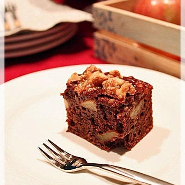 ヘルシー♪ 胡桃クランブル 林檎ケーキ