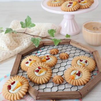 (レシピ)ティープレッソで作るリースクッキー
