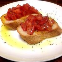 パンとトマトで簡単おつまみ!ブルスケッタの作り方