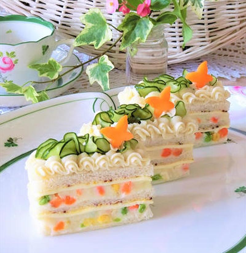 特別な日におすすめ♪ポテトサラダのケーキ風アレンジ
