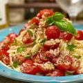 【レシピ】簡単やみつき!ツナとミニトマトの冷製パスタ!