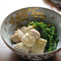 鶏肉と菜花の白だしさっと煮 柚子胡椒風味♪