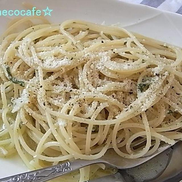 あっさりめのジェノベーゼスパゲティ