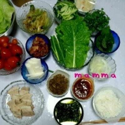 ☆ポッサム&冷麺のはずがビーフカレーライス☆8/9