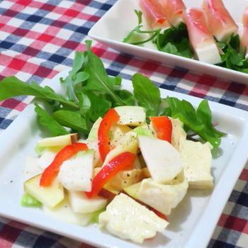 かぶとチーズのサラダ & はんぺんの生ハム巻き