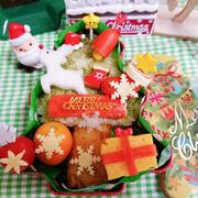 ツリーカンカンでクリスマス弁当〖デコ弁*のっけ弁当〗