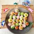 【5/5こどもの日】子供と一緒に☆てまり寿司〜こいのぼりver.♡レシピ