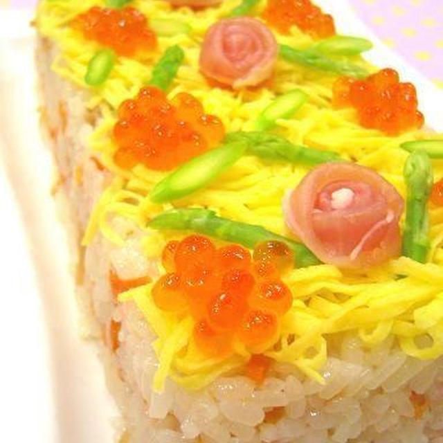 クリスマスケーキ寿司♪イチオシ朝ごはん掲載