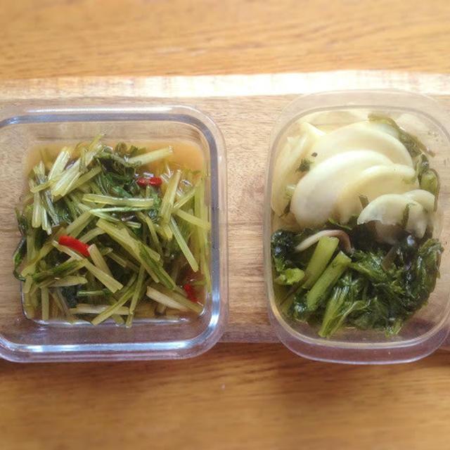 かぶの浅漬け+水菜の醤油漬け