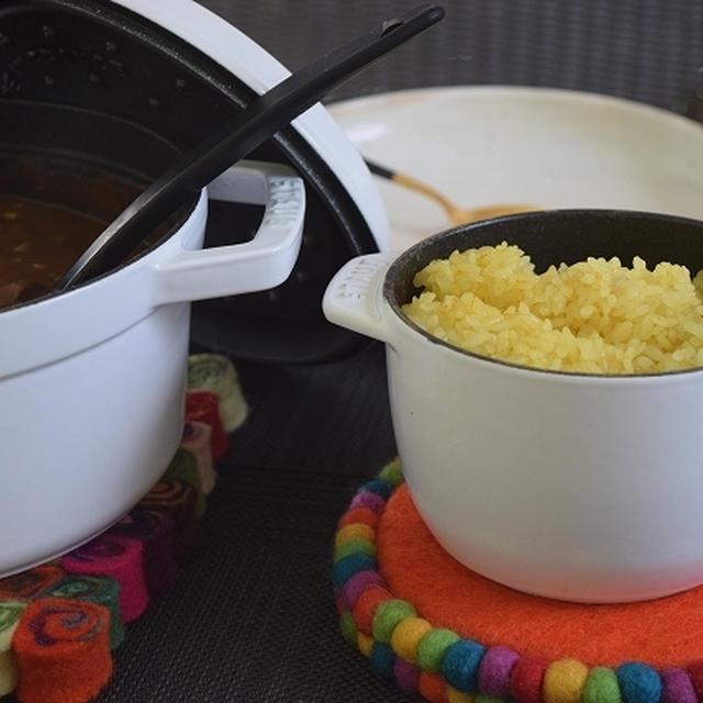 ストウブですじカレー~カレー粉で炊くご飯~