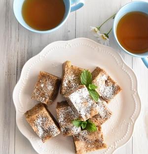レンジで紅茶とリンゴの蒸しケーキ