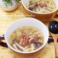 生姜でポカポカ◎焼き鳥缶で和風マカロニスープ by shinkuさん