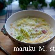 トロ~リあたたまる♪やさしい味わいの「豆乳スープパスタ」