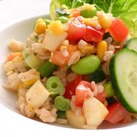 朝ベジ☆夏野菜がいっぱいライスサラダ