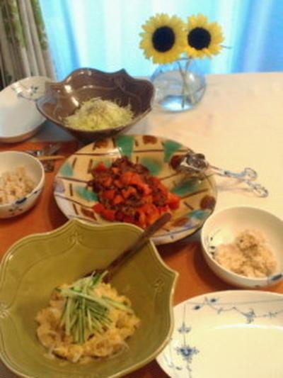 肉トマトと玄米とオニキャベとオニポテ