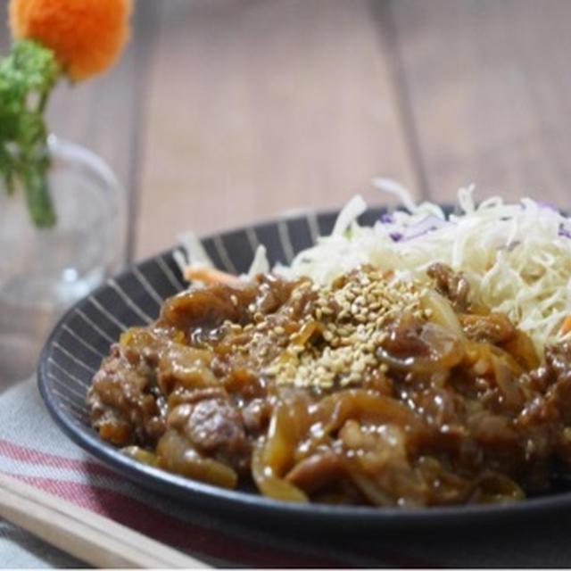 新玉ねぎと牛肉のピリ辛甘辛煮