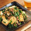 炒どうふとニラのにんにくしょう油炒め 、 男前豆腐レシピ