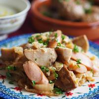 【お知らせ!】アンナのキッチン公式レシピサイト完成!里芋と白菜とソーセージの炒め物