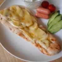 デルソーレのナンでバナナチーズナントースト