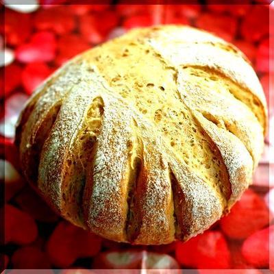 捏ねないパン! 小麦胚芽と白胡麻のカンパーニュ