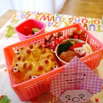 幼稚園のお弁当(年長さん12月「クリスマス弁当」)