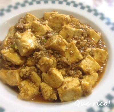 花椒が香る、本格派麻婆豆腐