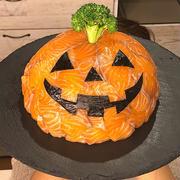 ハロウィンに作ろう!!ジャックオランタンドーム寿司