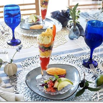 野菜のパフェはお好きな盛り付けで♪「初夏のおもてなし」