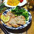 料理教室☆きまぐれランチ♪メインにセロリとセージのサルティンボッカ