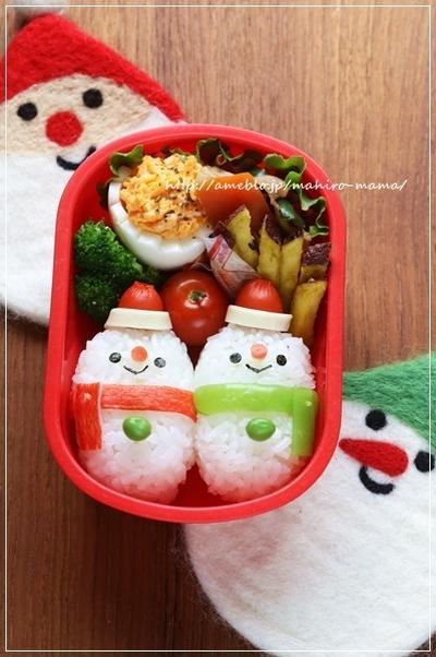 【クリスマス】キャラ弁簡単おすすめレシピ!サンタ・トナカイ・雪だるまの作り方のコツ!の画像7