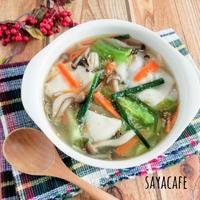 【余った餃子の皮で】ワンタン風中華スープ
