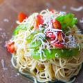 【冷たいパスタレシピ】しらすとトマトのガーリックめんつゆ