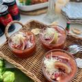トマトジュースで簡単!イタリアンなガスパチョ風トマトスープ