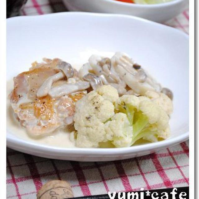 鶏と野菜の味噌クリーム煮*