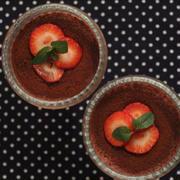 バレンタインのデザートに とろふわチョコレートプリン