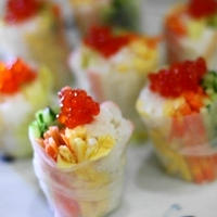 イクラとカニカマの生春巻き寿司
